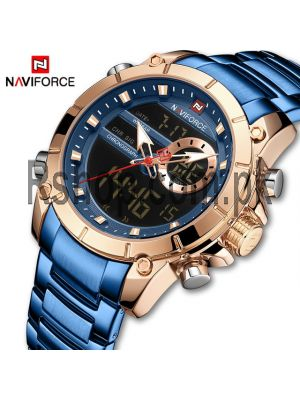 NAVIFORCE NF9163 Stainless Steel Dual Time Wrist Watch Price in Pakistan