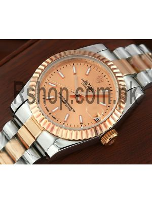 Rolex Lady DateJust Rose Gold Dial Watch Price in Pakistan