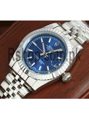 Rolex Datejust Blue Dial Ladies Watch