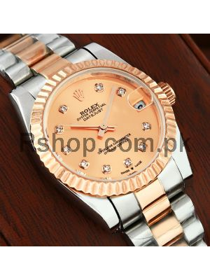 Rolex Datejust Lady Rose Gold Dial Watch