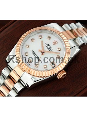 Rolex Lady-Datejust MOP Diamond Dial Watch