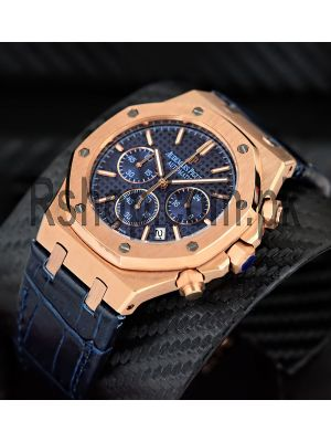Audemars Piguet Royal Oak Chronograph Rose Gold  Blue Watch Price in Pakistan