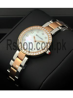 Bvlgari Mother of Pearl Diamond Dial Ladies Watch Price in Pakistan