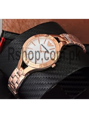 Emporio Armani  Ladies Rose Gold Watch Price in Pakistan