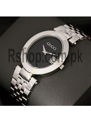 Gucci Black Dial Stainless Steel Watch Price in Pakistan