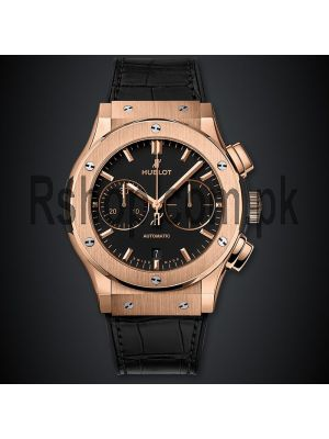 Hublot Classic Fusion King Gold Black Watch Price in Pakistan