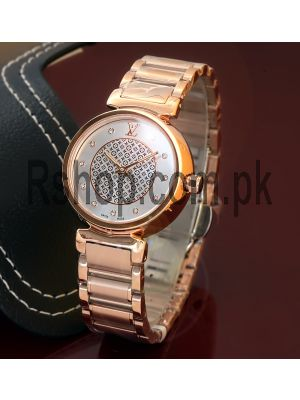 Louis Vuitton Ladies Tambour Lovely Diamonds Dial Watch Price in Pakistan