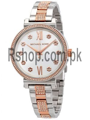 Michael Kors Sofie Crystal Silver Dial Two-tone Ladies Watch Price in Pakistan
