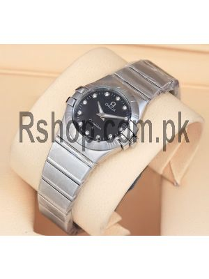 Omega Constellation Black Dial Ladies Watch Price in Pakistan