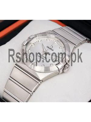 Omega Constellation Silver Unisex Watch Price in Pakistan