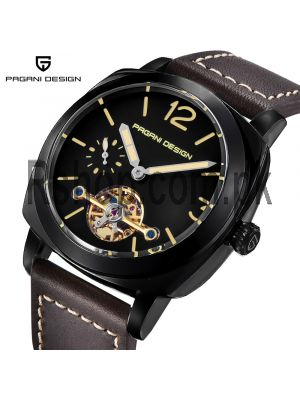 PAGANI DESIGN  Men's Mechanical  High Quality Leather Military Sports Watch Price in Pakistan