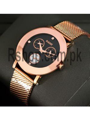 Rado Jubile Black Dial Rose Gold Watch Price in Pakistan