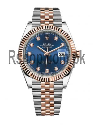 Rolex Date Just Two Tone Blue Dial Watch Price in Pakistan
