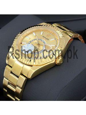 Rolex Sky-Dweller Yellow Gold Swiss Watch Price in Pakistan
