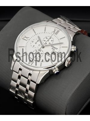 Tissot Chemin Des Tourelles Chronograph Silver Dail Stainless Steel Watch Price in Pakistan