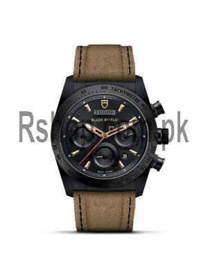 Tudor Fastrider Blackshield Alcantara Strap Ceramic Watch Price in Pakistan