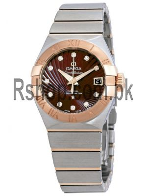 Omega Constellation Brown Dial Ladies Watch Price in Pakistan