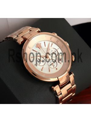 Versace Revive Mother of Pearl Dial Chronograph Watch Price in Pakistan